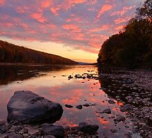 Evening Glow on The Delaware by ApertureArtist