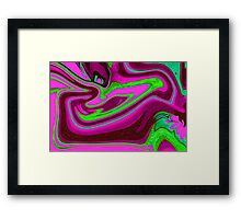 Pink, purple and green Framed Print