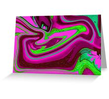 Pink, purple and green Greeting Card