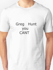 Australian Federal Election . Greg Hunt T-Shirt