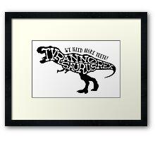 Stencil: Tyrannosaurus Rex Framed Print