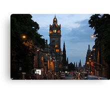 Princes Street - Edinburgh Canvas Print