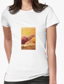 Fuzzy Peach Womens Fitted T-Shirt