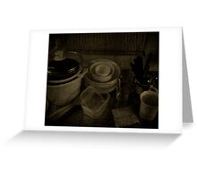 Dishes Greeting Card