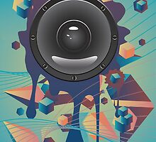 Abstract Audio Speaker by AnnArtshock