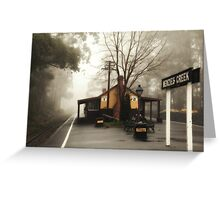 Menzies Creek Station Greeting Card