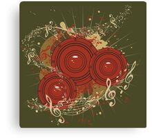 Music Poster with Audio Speaker Canvas Print