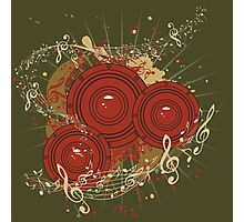 Music Poster with Audio Speaker Photographic Print