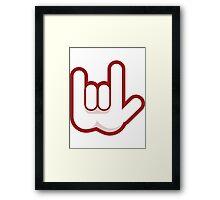Rock Hand Framed Print