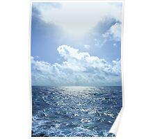 Ocean Blue Poster
