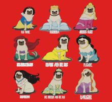 Pug Princesses One Piece - Short Sleeve