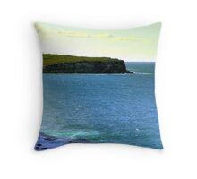 Cliff And Sailboat 1 Throw Pillow