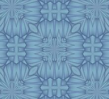 Soft Blue Tracery #3 by Lena127