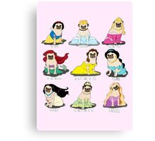 Pug Princesses Canvas Print