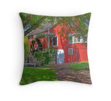 Krug Village Grist Mill Throw Pillow