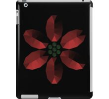 Red and Green Gem Style Flower iPad Case/Skin