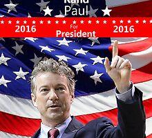 Rand Paul for President 2016 by Edmond  Hogge