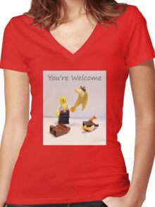 You're welcome Women's Fitted V-Neck T-Shirt
