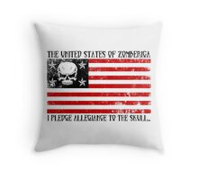 United States of Zomberica Throw Pillow