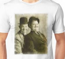 Laurel and Hardy by John Springfield Unisex T-Shirt