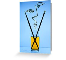 Cocktails with Picasso - Print Greeting Card