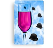 Cocktails with Magritte - Print Canvas Print