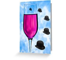 Cocktails with Magritte - Print Greeting Card
