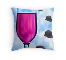 Cocktails with Magritte - Print Throw Pillow