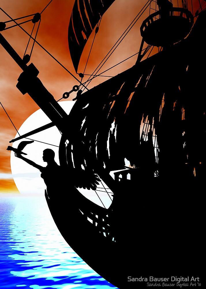 The Black Pearl by Sandra Bauser Digital Art
