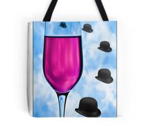 Cocktails with Magritte - Titled Print Tote Bag