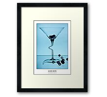 Cocktails with Dali - Titled Print Framed Print