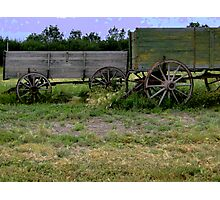Wagons Ho... Photographic Print
