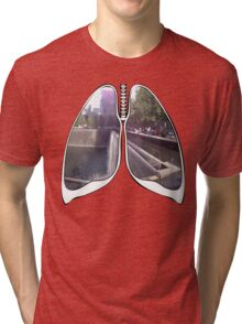 Lungs - WTC Memorial  Tri-blend T-Shirt