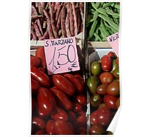 Vegetables at Italian Market Poster