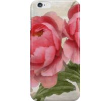 Apricot Peonies I iPhone Case/Skin