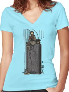 To Find a Way Out Women's Fitted V-Neck T-Shirt
