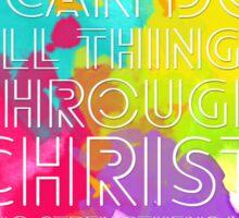 Philippians 4:13 (White Version) Sticker
