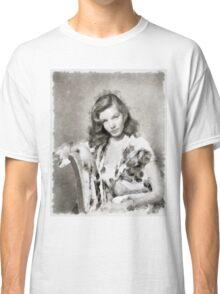 Lauren Bacall by John Springfield Classic T-Shirt
