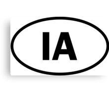 Iowa - IA - oval sticker and more Canvas Print