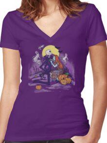 Halloween Hero Women's Fitted V-Neck T-Shirt