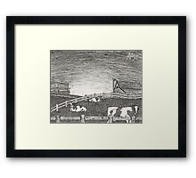a peace of country Framed Print