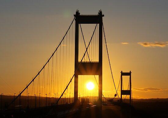 Severn Bridge Sunset by Brian Roscorla