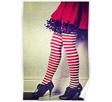 Red stripy socks Poster