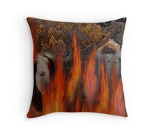 Burning... Throw Pillow