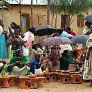 Women's craft work at the Yeha market by Euphemia