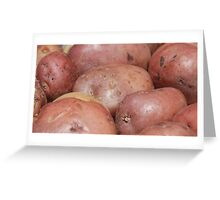 Cooked Potatoes Greeting Card