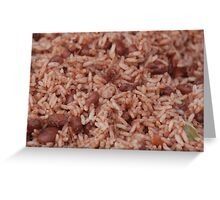 Cooked Rice Greeting Card