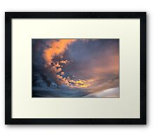 Yellow clouds Framed Print