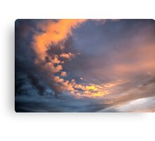 Yellow clouds Canvas Print