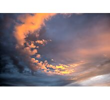 Yellow clouds Photographic Print